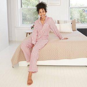 NWT Striped Flannel Long Sleeve Pajama Set